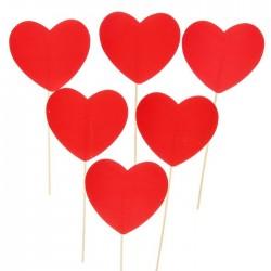 """Набор фотобутафории """"Сердца"""" (для пожеланий), 6 шт., 11 х 28 см 1348128"""