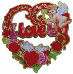 27385 I Love U! декоративное украшение