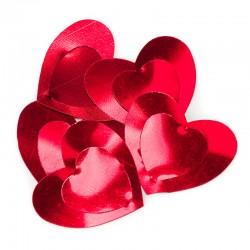 Конфетти большие сердца красные 17гр.