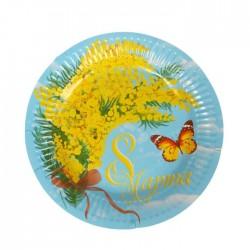 Набор тарелок На 8 марта 18см 6шт
