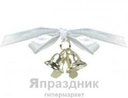 Колокольчик двойной золотой с бант 12штА (048419 755173)