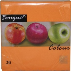 "Салфетки 33х33см, 2сл., Оранж, бум. 20 шт ""Bouquet Colour"""