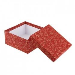 "Коробка ""Сердечки на красном"" № 4"