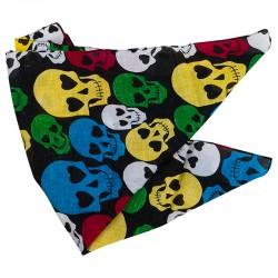 Платок Бандана Разноцветные черепа