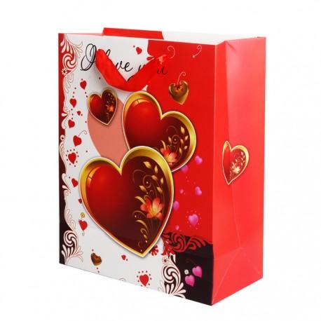 """Пакет подарочный """"Пламенные чувства"""" / 18*23*10см (Китай)"""