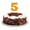 Топпер для торта цифра 5 золотой 20см