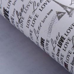 """Бумага упаковочная 52 х 73 см """"Из Парижа с любовью"""""""