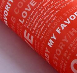 Бумага упаковочная 52 х 73 см любовь, цвет красный 831479