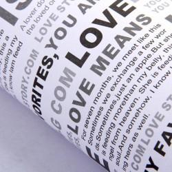 Бумага упаковочная 52 х 73 см любовь, цвет белый 831478