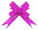 Бант Бабочка Точки, Розовый (6,3''/16 см), 10 шт.