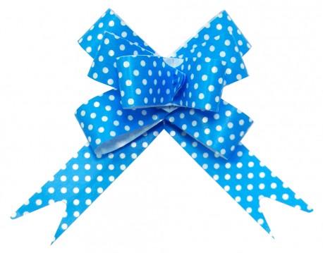Бант Бабочка Точки, Голубой (6,3''/16 см), 10 шт.