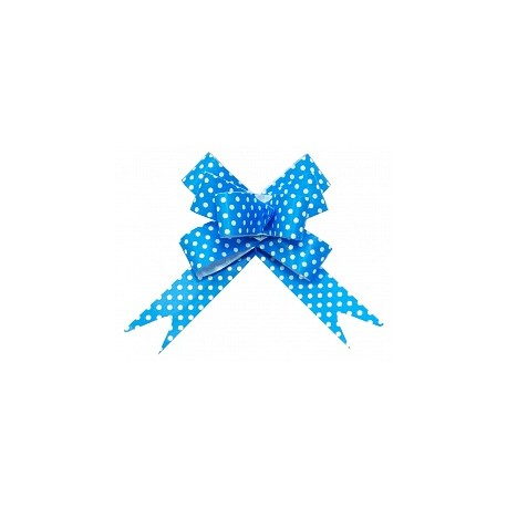 Бант Бабочка Точки, Синий (5''/13 см), 10 шт.