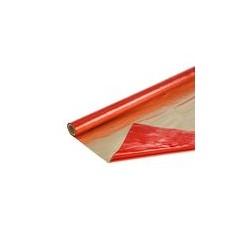 Полисилк двухцветный красный + матовое золото, 1 х 20 м