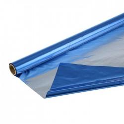 Полисилк двухсторонний синий + серебро, 1 х 20 м 1920462