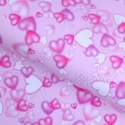 "Бумага упаковочная 50 х 70 см ""Разноцветные сердца"""