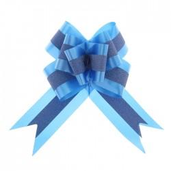 Бант-бабочка №7 с полосой, синий 1028072