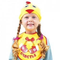 """Карнавальный комплект Цыпленка """"Счастье""""шапка, нагрудник, 1,5-3 года"""