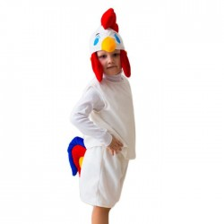 "Карнавальный костюм ""Петушок Гребешок"", шапка, безрукавка, шорты , 5-7 лет, рост 122-134 1577048"