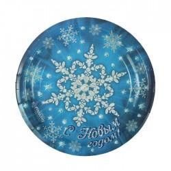 Набор тарелок С новым годом снежинка 18см 10шт