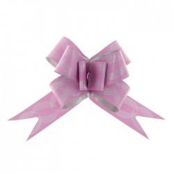 Бант-бабочка №3 голография с рисунком кофейные зёрна, розовый 1020381
