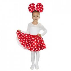"""Карнавальный набор """"Милашка"""", 2 предмета: ободок, юбка, цвет красный"""