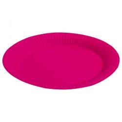 Набор тарелок однотонные фуше 23см 6шт