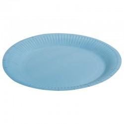 Тарелка однотонная, голубой, 7 дюймов, 6шт