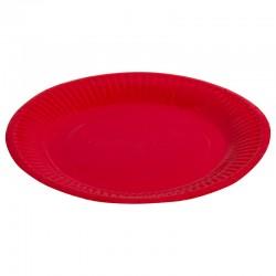 Набор тарелок однотонные красные 18см 6шт