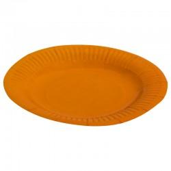 Набор тарелок однотонные оранжевые 18см 6шт