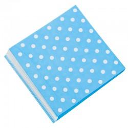 Салфетки Голубые точки 32см 20шт