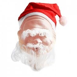 маска латекс дед мороз с колпаком маленькая
