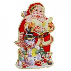 """Плакат """"Дед Мороз поёт"""" 20*34 см"""