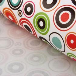 """Бумага упаковочная крафт """"Цветные круги"""" 50 х 70 см, 10 шт"""
