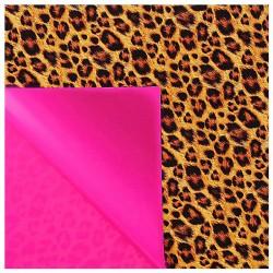 """Бумага упаковочная глянцевая """"Леопард"""" (двухсторонняя ), 70 х100 см"""