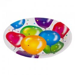 Набор тарелок с воздушными шарами 23см 6шт