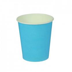 Стакан бумажный однотонный, голубой цвет (205 мл) 1419917