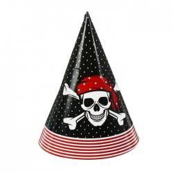 """Колпак бумажный """"Настоящий пират!"""" (набор 6 шт)"""