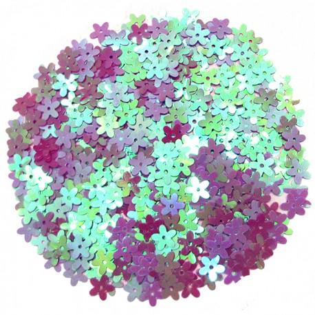 Q Конфетти перламутровое Цветы розовые 14гр