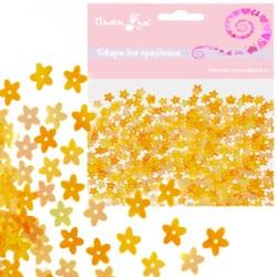 Конфетти перламутровое Цветы желтые 14гр