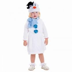 "Карнавальный костюм ""Снеговик белый в шляпке"" сарафан, шарф, шапка рост 98 1468470"