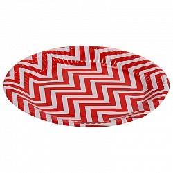 Набор тарелок Красные зигзаги 18см 6шт