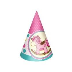 F Колпачок Лошадка Малышка розовая 6шт