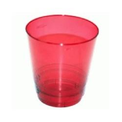 Стакан д/хол., 0.20л, кристалл, ПС, красный 8шт