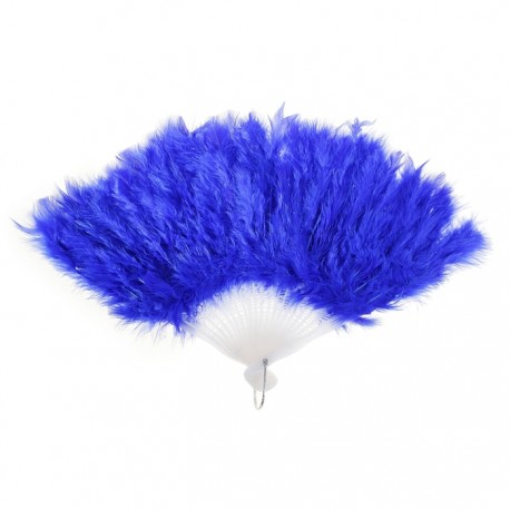 Веер пуховой цвет синий 25см