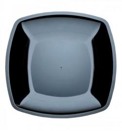 Набор тарелок Buffett квадратные черные 23см 6шт
