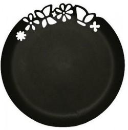 Блюдо с ажурным краем,Черное,273мм, 3шт/уп BUFFET РОССИЯ 183201