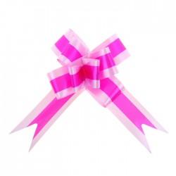 Бант-бабочка №3 малиновый в розовом 850411
