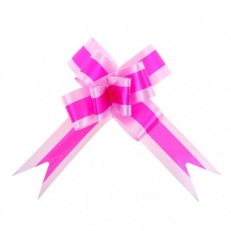 Бант-бабочка №3 малиновый в розовом
