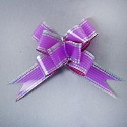 Бант-бабочка №3 фиолетовый в серебре 852726