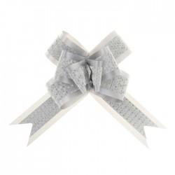 Бант-бабочка №5 с полосой, белый 1028057